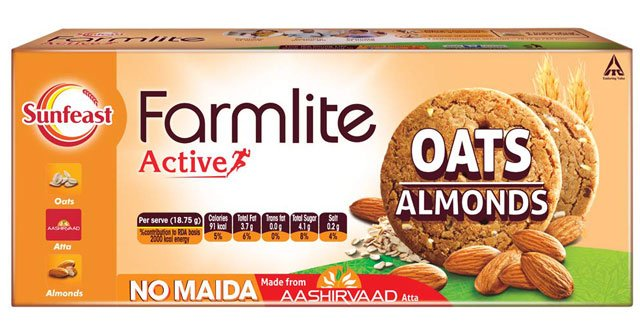 Sunfeast Farmlite Digestive Oats with Almond biscuits